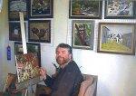 Larry Contreras in his Studio