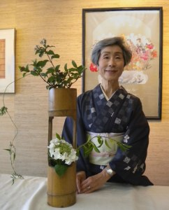 Ikebana Demonstration on 22 Aug 2015 by Kozue Knowles of the Monterey Chapter of Ikebana International