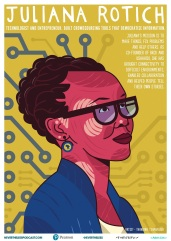 Juliana Rotich is a technologist, strategic advisor, entrepreneur, and keynote speaker. She is co-founder of BRCK Inc, a hardware and services technology company based in Kenya. Artist: Thandiwe Tshabalala.