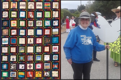 Peace quilt and Joyce
