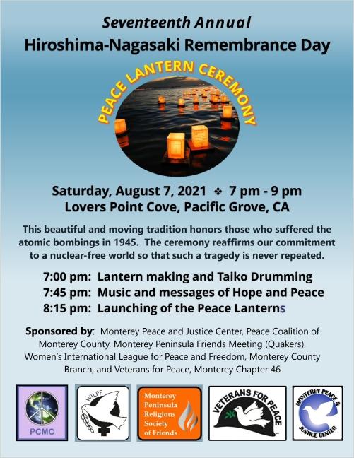 2021 Peace Lantern event flyer